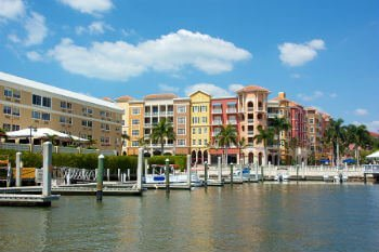Homes on Naples waterfront